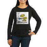 Cofee Alien Women's Long Sleeve Dark T-Shirt