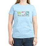 Peace, Love, Porties Women's Light T-Shirt