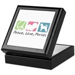 Peace, Love, Porties Keepsake Box