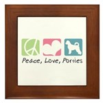 Peace, Love, Porties Framed Tile
