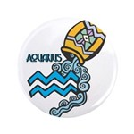 "Aquarius Cool Water Design 3.5"" Button (100 p"