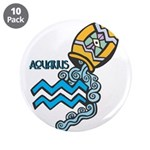 "Aquarius Cool Water Design 3.5"" Button (10 pa"