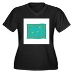 Capricorn Constellation Tapes Women's Plus Size V-
