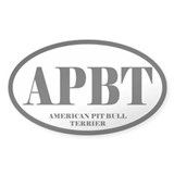 APBT Abbreviated American Pit Bull Terrier Decal