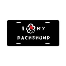 I *heart* My Dachshund Aluminum License Plate