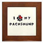 I *heart* My Dachshund Framed Tile