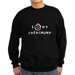 I *heart* My Dachshund Sweatshirt (dark)