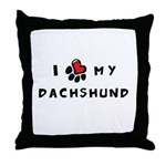I *heart* My Dachshund Throw Pillow