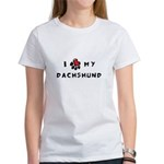 I *heart* My Dachshund Women's T-Shirt