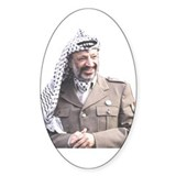 Yasser Arafat Oval Stickers