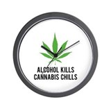 Cannabis Chills Wall Clock