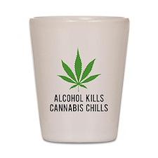 Cannabis Chills Shot Glass