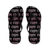 Pink Ribbon Cure Flip Flops