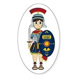 Cute Roman Soldier Sticker (Oval 10 Pk)