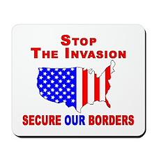 Border Security Stop The Inva Mousepad
