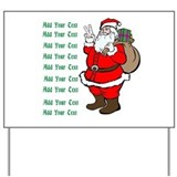 Add Your Own Text Santa Yard Sign