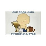 Cute sports baby future star Rectangle Magnet (100