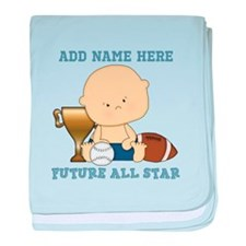 Cute sports baby future star baby blanket