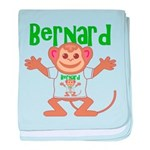 Little Monkey Bernard baby blanket