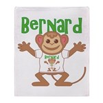 Little Monkey Bernard Throw Blanket