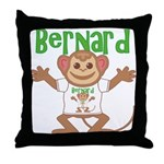 Little Monkey Bernard Throw Pillow
