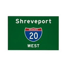 Shreveport 20 Rectangle Magnet