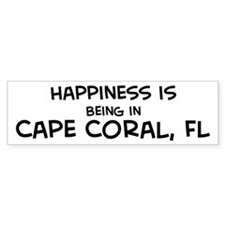 Happiness is Cape Coral Bumper Bumper Sticker