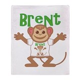 Little Monkey Brent Throw Blanket