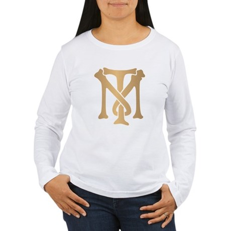 Tony Montana Monogram Womens Long Sleeve T-Shirt