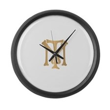 Tony Montana Monogram Large Wall Clock