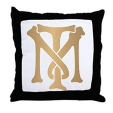 Tony Montana Monogram Throw Pillow