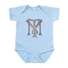 Tony Montana Silver Monogram Infant Bodysuit