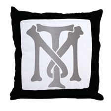 Tony Montana Silver Monogram Throw Pillow