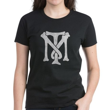 Tony Montana Vintage Monogram Womens T-Shirt