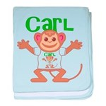 Little Monkey Carl baby blanket