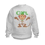 Little Monkey Carl Kids Sweatshirt