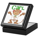 Little Monkey Carl Keepsake Box