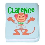 Little Monkey Clarence baby blanket