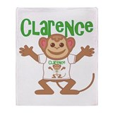 Little Monkey Clarence Throw Blanket