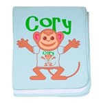 Little Monkey Cory baby blanket