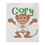 Little Monkey Cory Throw Blanket