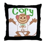 Little Monkey Cory Throw Pillow