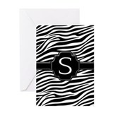 Monogram Letter S Greeting Card