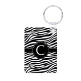 Monogram Letter C Aluminum Photo Keychain