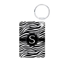zebra stripes - monogram Keychains