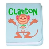 Little Monkey Clayton baby blanket