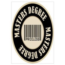 Masters Degree Priceless Bar Code