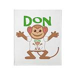 Little Monkey Don Throw Blanket