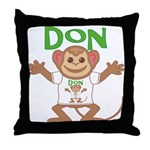 Little Monkey Don Throw Pillow