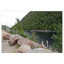9X12 Framed Pint- Adirondacks lake 1